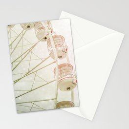 Ferris wheel photography pink bokeh Stationery Cards