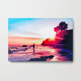 beach summer sunset in California, USA Metal Print