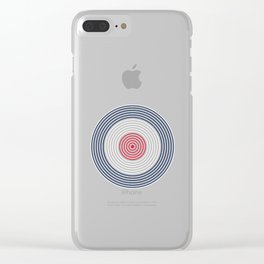 British MOD Style 60s Vinyl Record Roundel Target Bullseye Clear iPhone Case