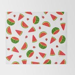 Watermelon&ladybug Throw Blanket