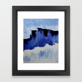 Cold Blue Framed Art Print