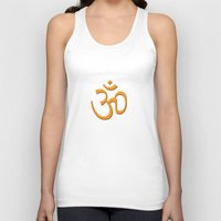 hindu Tank Tops featuring Hindu om by gbcimages