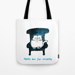 Hands are for Stroking (Blue) Tote Bag