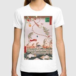 Tokyo on Festival Cityscape Vintage Ukiyo-e Japanese Art T-shirt