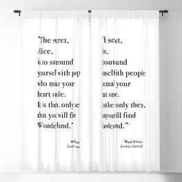The Secret Quote, Alice In Wonderland Blackout Curtain