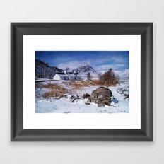 Black Rock Cottage Framed Art Print