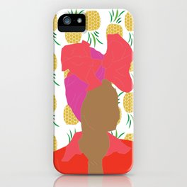 Pineapple Bawse Babe iPhone Case
