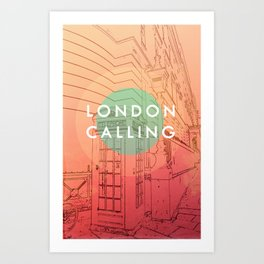 Songs and Cities: London Calling Art Print