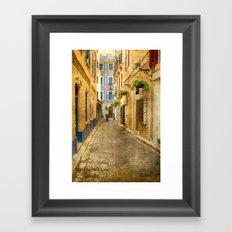 Horse Barrack Lane, Gibraltar Framed Art Print