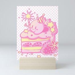 Kirby Cake Mini Art Print