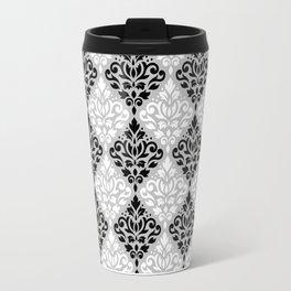Scroll Damask Pattern BWG Travel Mug