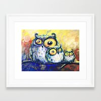 family Framed Art Prints featuring family by Katja Main