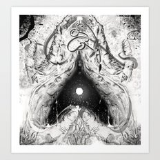 Cosmic Heart Beat 'Mono Dual'   Art Print