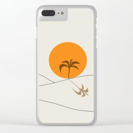 Desert Heat and Palm Clear iPhone Case