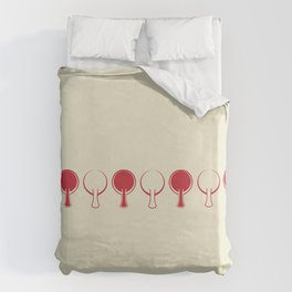 All In A Line Duvet Cover