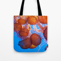 jelly fish Tote Bags featuring Jelly Fish by Shannon McCullough-Wight