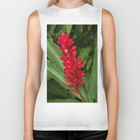 hawaiian Biker Tanks featuring Hawaiian flower by lennyfdzz