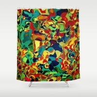bible Shower Curtains featuring Noah's Ark by Klara Acel