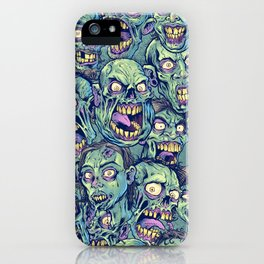 Zombie Repeatable Pattern iPhone Case