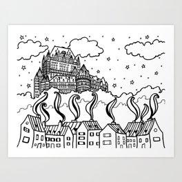 Chateau Magique Art Print