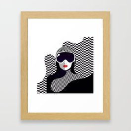 The Lady of the Alps Framed Art Print