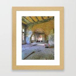 Lost Places, Beelitz-Heilstaetten Military Hospital, Brandenburg, Germany Framed Art Print