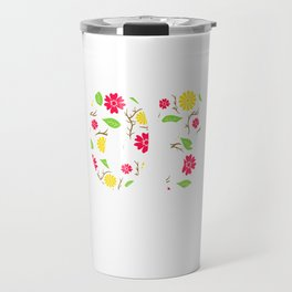 """A Birthday Tee For 16th Birthday """"Made In 03 16 Years Of Being Awesome"""" T-shirt Design Natal Flower Travel Mug"""