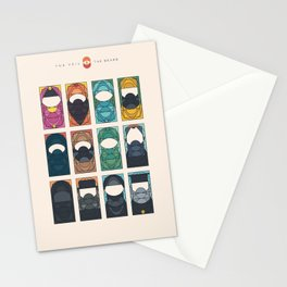 THE VEIL AND THE BEARD - All in One - Without subheads Stationery Cards