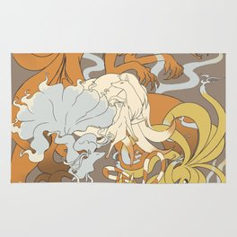 Kitsune group Rug