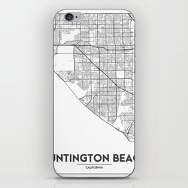 Minimal City Maps - Map Of Huntington Beach, California, United States iPhone Skin