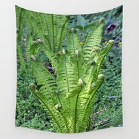 plant Wall Tapestries featuring claw plant by  Agostino Lo Coco