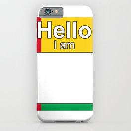 Hello I am from GuineaBissau iPhone Case