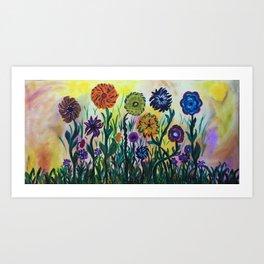 Wild Flowers #AcrylicPainting Art Print