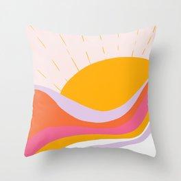 laurel canyon sunrise Throw Pillow
