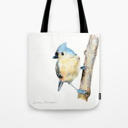 Tufted Titmouse by Teresa Thompson Tote Bag