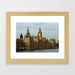 London And The Houses Of Parliament Framed Art Print