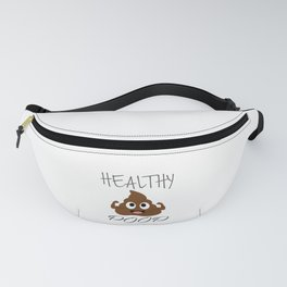 Healthy poop with flexing arms Fanny Pack