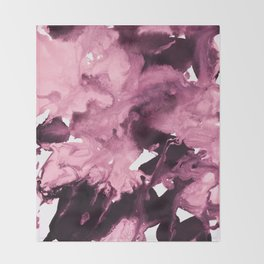 inkblot marble 6 Throw Blanket