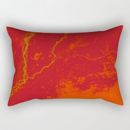 Pakistan Earth Art - Red Orange Fruit Rectangular Pillow
