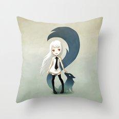 Fox Daemon Throw Pillow