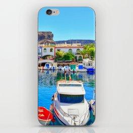 Puerto de Mogan port iPhone Skin