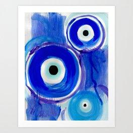 Evil Eyes Art Print