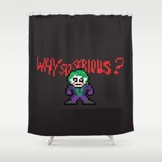 The Dark Pixel Shower Curtain