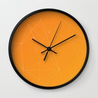 celestial Wall Clocks featuring Celestial by Studio Art Prints