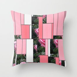 Pink Roses in Anzures 6 Art Rectangles 9 Throw Pillow