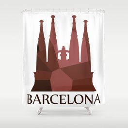 Sagrada Familia Shower Curtain