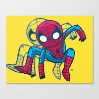 Does whatever a spider can! Canvas Print
