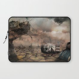 Abandoned Theme Park: Matte Painting Laptop Sleeve