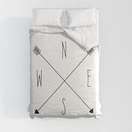 Compass - North South East West - White Comforters