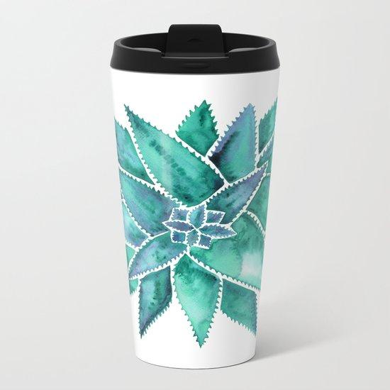 Aloe Vera – Turquoise Palette Metal Travel Mug